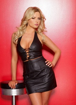 Black Leather Classic Mini Skirt - S,M,L,XL