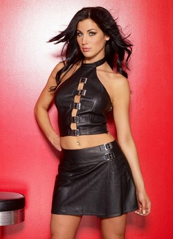 Black Leather Mini School Girl Skirt - S,M,L,XL